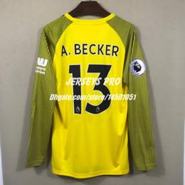 Full long sleeve Goalkeeper jerseys Alisson Becker Yellow Keeper shirts  2018 2019 home away third soccer Goalie GK uniform football kits a95f0f205