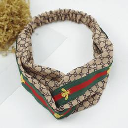 Diseñador de Seda Cruz Elástica Mujeres Diademas Moda de Lujo Chicas Flores Cintas para el pelo Bufanda Accesorios para el Cabello Regalos Venta Caliente Mejores Headwraps desde fabricantes
