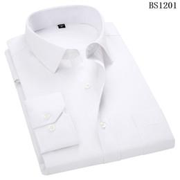 Langärmliges lila hemd online-Plus Größe 8XL 7XL 6XL 5XL 4XL Herren Business Casual Langarmhemd Klassisch gestreift Herren Freizeithemden Lila Blau