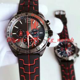 Часы f1 кварц онлайн-Горячие продажи дизайнер F1 мужские часы кварцевые часы Стальной корпус спортивный каучуковый ремешок профессиональный завод наручные часы хронограф MONTRE De Luxe