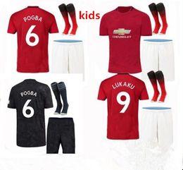 379ab0941 2019 2020 manchester kids SOCCER JERSEY full kits 19 20 POGBA ALEXIS LUKAKU  KITS MAILLOT DE FOOT UNITED football shirt KITS with socks
