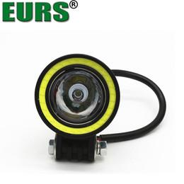 2019 lampade di angelo EURS LED fari per auto 1000lm faro per moto LED Angel Eyes fendinebbia per auto cupola stile luce DC12-30V spedizione gratuita lampade di angelo economici