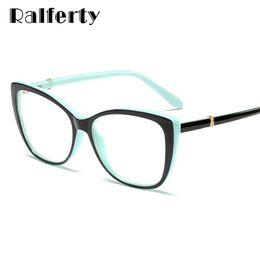 5171ca0f5d anteojos ópticos Rebajas Ralferty 2019 Light Luxury Eye Glasses Women Cat  Eye Frame Gafas Lente Transparente