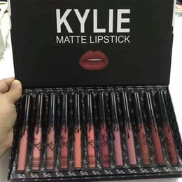 Kylie LIPGLOSS Burthay12 colores, lápiz labial líquido mate, cosméticos Keri, 12 nuevos juegos de brillo de labios de mariposa negra Kylie desde fabricantes