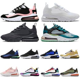 sapatas brancas azuis do hip-hop Desconto nike air max 270 react Verde Mar 270 Reagir Running Shoes Hip Hop Triplo Preto Triplo branco descorado Coral Bauhaus azul com laranja Travis Scott Sneakers 36-45