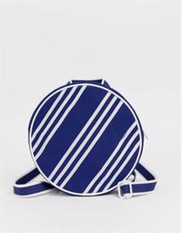 2019 mochilas circulares Bolsos de diseñador Mini Bolsas para mujer Las más vendidas Rayas clásicas Estilo Negro Color azul Venta caliente Lindo Circular Mochilas de lujo Más nuevo mochilas circulares baratos