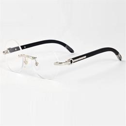 Vazrobe Occhiali rotondi Frame Uomo Marca Legno Occhiali Uomo Oro Argento Luxury Name Occhiali da vista Occhiali da vista cheap rimless prescription glasses da occhiali senza prescrizione fornitori