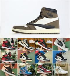 2019 Top Quality New 1 NRG High White Chaussures de basket-ball 1s Chicago rouge poudre Bleu UNC Fragment Athletic Sport Sneakers ? partir de fabricateur