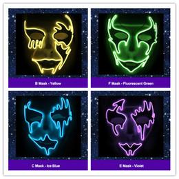 festival lichter kostüm Rabatt Halloween Weihnachten LED Leuchten Glow Party Masken Die Purge Wahljahr Große Schädel Masken Festival Cosplay Kostümzubehör