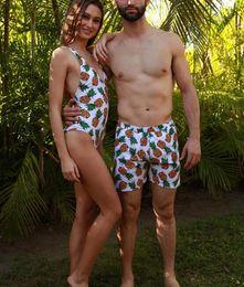 2019 madre hija pantalones a juego Conjuntos de Bikini de playa para la familia Trajes de baño para el padre, madre, madre e hijo Bikinis de piña o flamencos a juego de la familia Envío gratis