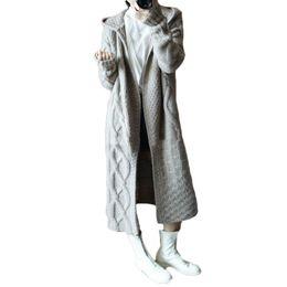 Canada 2018 Nouveau Casual Plus Taille Femmes À Manches Longues Tricoté Capuche Cardigan Pull De Mode Solide Outwear Manteau Veste Manteau D'hiver Chandail cheap winter knitted coat hood Offre