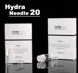 Hydra Needle 20 pines Micro Needle Aqua Channel Mesoterapia Gold Needle Fine Touch System derma stamp desde fabricantes