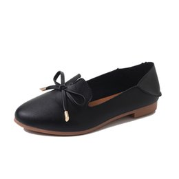 Argentina Zapatos cómodos de enfermera Mujer Pisos Creepers Mujer Slip on Shoes para mujer Gran tamaño Bow Nnot Casual Creeper Womens Flats cheap nursing slip shoes Suministro