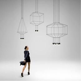 2019 iluminação moderna de cabos Nórdico Moderno 110 V 220 V 240 V LED preto wireflow lâmpada pingente luz escada hall de entrada hall de entrada 3 metros de fluxo de cabo preto lâmpada pendurada desconto iluminação moderna de cabos