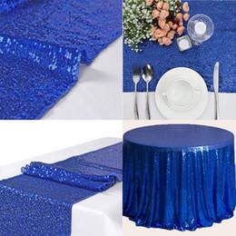 """Decorazioni nere blu royal online-Royal Blue 12 """"x108"""" Sequin Runner scintillante tovaglia per banchetti di eventi festa di nozze decorazioni natalizie nero 30x275cm"""