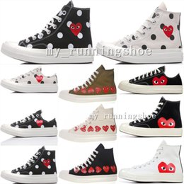 Juego de goma online-Converse all star 70s COMME DES GARCONS PLAY 2019 Classic 1970s Benevolence Big Eyes Casual Shoes 1970 Big Eyes Mix Rubber Campus Joker Zapatos de lona