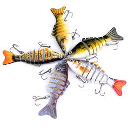 2019 japão atacado ganchos de pesca 2019 Pesca Lure Combater multi Segmento Swimbait Crankbait rígido Bait 10 centímetros 15,5 g # 6 iscas artificiais Pesca 5 cores HS001