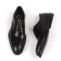 Goodyear handgefertigte Kleid Schuhe Männer schnüren sich elegante Freizeitschuhe aus echtem Leder Italien Vintage Mokassins geschnitzt Derby Schuhe