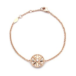 Spitze armbänder online-Achtzackiges Stern-Volldiamant-Armband Asiatisch-goldenes Damen-Kompass-Volldiamant-Armband Armband für Damen / Herren