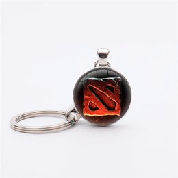 dota figures Coupons - Hot Game Theme Dota 2 Logo Keychain Dota 2 Logo Pendant Key Chain Figure Classic Jewelry Gift Keyring