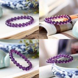 Bola violeta on-line-jóias Natural Ametista Cordas Diy mão mulher decora esfera violeta Buda pulseira de contas pulseiras peças contas