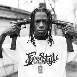 Camisas sueltas de baile online-19SS Freestyle Street Dance Camiseta Carta Impreso Casual Hip Hop Highstreet Skateboard Tee Loose Hombres Mujeres Verano de manga corta HFYMTX470