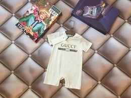 2019 linda niña rosas Bebé Niños Niñas Mamelucos Diseñador Niños Mono de Algodón de Manga Larga Niñas Infantiles Carta de Algodón Romper Boy Ropa 0622