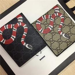 portafoglio a croce Sconti Designer Tote Portafoglio in vera pelle di lusso uomini brevi portafogli per donna uomo serpente ape tigre lupo moneta borsa pochette con scatola z4134