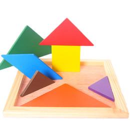 2019 bordbau Nutzen Intelligenz Baustein Tangram Früherziehung hat die Willenskraft Puzzle Board Spielzeug verbessern Hand-on Fähigkeit für 1-6 Jahre rabatt bordbau