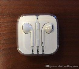 Argentina Buena calidad para el iPhone 5 6 Auricular Auricular de 3,5 mm con un volumen de micrófono Auriculares remotas Para iPhone6 6S Plus 5S 5C 4S Suministro