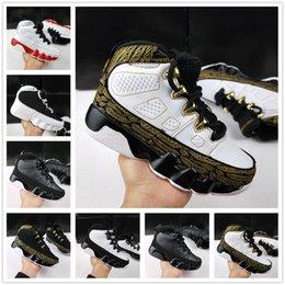 Chaussures bon marché pour les enfants livraison gratuite en Ligne-nike air jordan aj9 2019 Livraison Gratuite Chaussures de Basketball Pour Enfants Enfants Athletic 9 IX Space Jam Barons GS Noir Oero 9s LA Sneakers