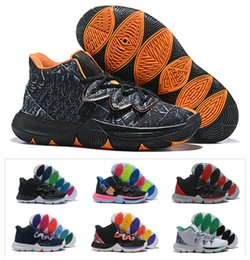 chaussures pour femmes Promotion 2019 New Boys Kids Kyrie V Lucky Charms soldes soldes Irving 5 Basket-ball 5s chaussures Jeunes filles Filles taille 36-40