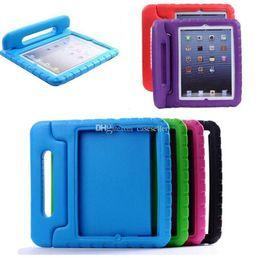 A prueba de golpes mini fundas para ipad online-Kids Safe Safe Foam Shock Proof EVA Manija Cubierta Soporte para iPad mini 1234 2/3/4 Air 5 6 Pro K5092