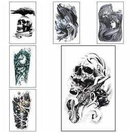 tatuagens à prova de água Desconto Grande Braço Tatuagem Temporária Moda Estilo Body Art Removível À Prova D 'Água Etiqueta Da Arte Do Tatuagem HHA250