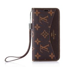 прочные кошельки Скидка Бренд бумажник телефон чехол для iPhone XS Макс дизайнер для iPhone 6S X / XR 8/7/6 плюс чехол флип кожа кредитная карта тонкий прочный ремешок защитный
