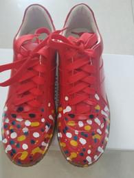 2019 zapatillas margiela tapas bajas corren los calzados informales de los hombres del diseñador alemán zapatos de entrenamiento de los hombres de los hombres de graffiti calzan las zapatillas de deporte Maison Martin Margiela rebajas zapatillas margiela
