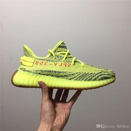 adidas yeezy 350 V2 off white boost sneakers 2018 Sesame Mens Shoes Blue Tint Sneakers Moonrock Black Womens Sport Casual Scarpe da corsa per uomo da