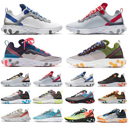 silver jade for men Promo Codes - Top Fashion React Element 87 55 Running Shoes for men women RED ORBIT Moss Royal Tint Jade Orange Peel Mens Trainers Sports Sneakers
