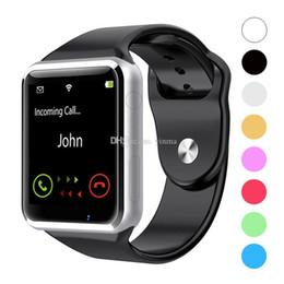 Deutschland A1 Bluetooth Smart Watch Sport Smart Zubehör Unterstützung SIM / TF-Karte mit Kamera für Iphone Android Intelligente Anti-verlorene Outdoor-Ausrüstung supplier bluetooth equipment Versorgung