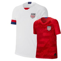 soccer jerseys united states Promo Codes - Top Qality Soccer Jersey America Home White 19 20 PULISIC YEDLIN BRADLEY 2019 united states away red football shirts
