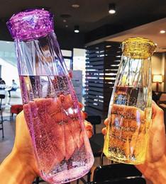 2019 weihnachtsgeschenk wasserflasche Kristallglaswasserflasche drinkware kreative Edelstein freie Flaschenschalenreise trägt meine Flasche 500ml Weihnachtsneujahr prsents Geschenke zur Schau rabatt weihnachtsgeschenk wasserflasche