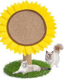 Gatinho adora gato de girassol placa de risco flor do sol gato de brinquedo espada de escalada moldura de móveis gato arranhando pós de