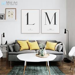mano de buda pinturas al óleo Rebajas ome pintura de la decoración de la caligrafía carta blanca minimalista Negro citas de la tipografía Poster Prints Nordic Living Art Room cuadros de la pared ...