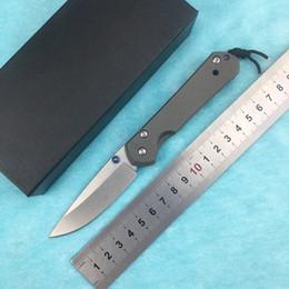 chris reeves cuchillos aleación titanio Rebajas Nueva Chris Reeve pequeña Sebenza 21 de titanio de acero D2 mango del cuchillo cuchillo plegable herramienta que acampa cuchillo táctico de la supervivencia del EDC