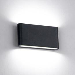 6W / 12W LED Lampade da parete per esterni Lampada da parete impermeabile IP65 Illuminazione da interno a led Scala AC85-AC265V Illuminazione per corridoio Luci da parete per comodini da piatti di vetro poco costosi all'ingrosso fornitori