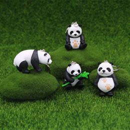 Dessin Animé Mignon Panda Porte Clés Porte Clés Pendentif Pvc Porte Clés Chaîne Cadeau Bambou Panda Poupée Porte Clés Mélanger 24pcs Lot En Gros