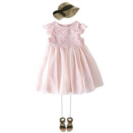Argentina Nuevo arriavl noble vestido de princesa verano encaje niños Crochet tul tutu vestido niñas vestido de fiesta rosa marca niños ropa 3-10T supplier girls crochet tutu dress Suministro