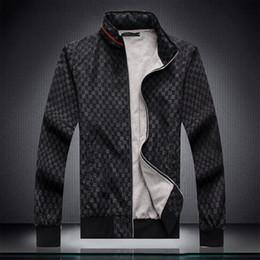 Tuta sportiva calda online-Vendita calda Nuovo tempo libero Sport doppio colore cuciture Stand-up collare Mens Designer Tute Multi-Size lunghezza manica uomini Tuta