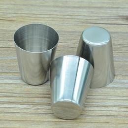 Colpo di tazza set online-Bicchiere da vino in acciaio inossidabile Bicchiere da vino in acciaio inossidabile Bicchiere da vino in vetro Set da vino portatile