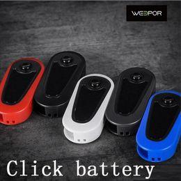 visualizza la variabile Sconti Tasto di scelta batteria Weepor originale Variabile 400mAh Preriscaldamento tensione VV Flick Box Mod Per cartucce olio spesse con display di tensione